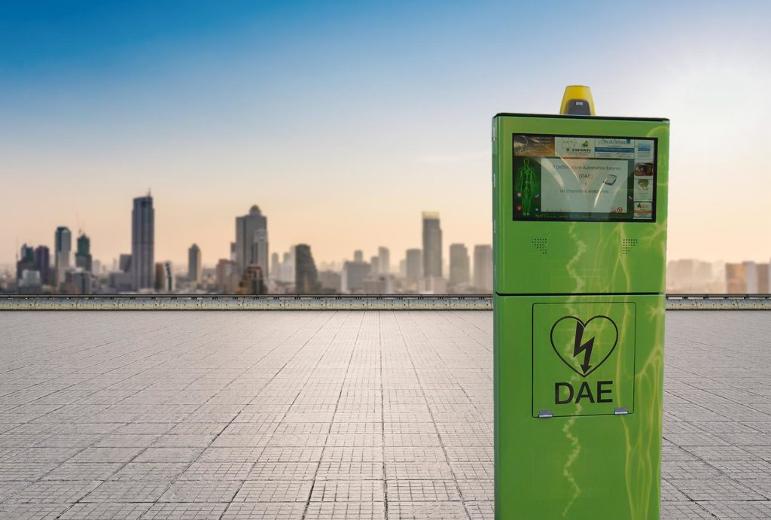 Totem DAE: installazione Outdoor per gestione Defibrillatore